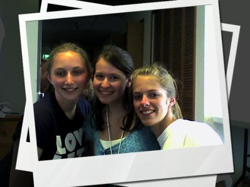 My stellar coaches - Austin, Mikaela, and Heather